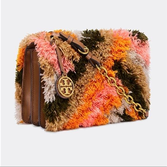 292af563a21 NWT Tory Burch Sadie Rug Shoulder Bag